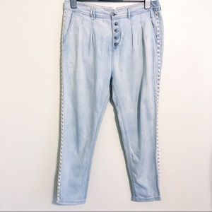 Free People Button Fly Tapered Trouser